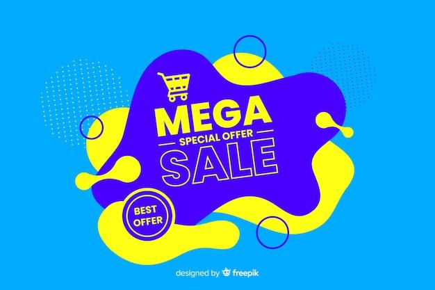 Mega verkoopachtergrond met abstracte vormen
