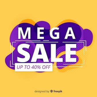 Mega-verkoopachtergrond met abstracte vormen