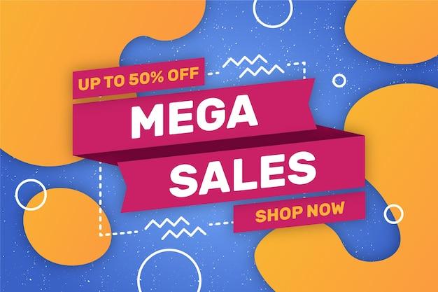 Mega verkoopwinkel nu achtergrond
