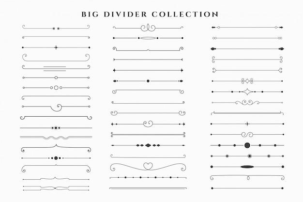 Mega verzameling floral dividers frames-collectie