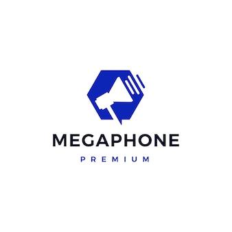 Megafoon handluidspreker draagbaar logo