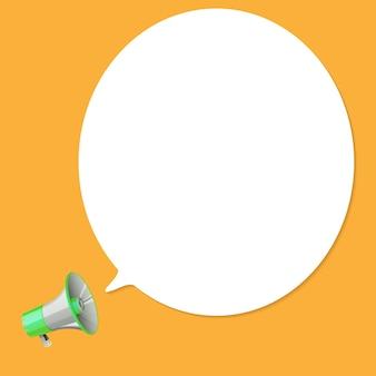 Megafoon met zeepbel spraak