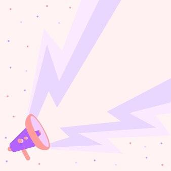 Megafoontekening die grote bliksemelektriciteit produceert die nieuwe aankondiging maakt. bullhorn-tekening genereert grote dondertoestroom reclame voor nieuwe promotie.