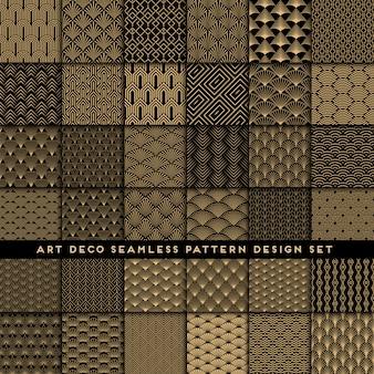 Megareeks van het art deco naadloze patroon