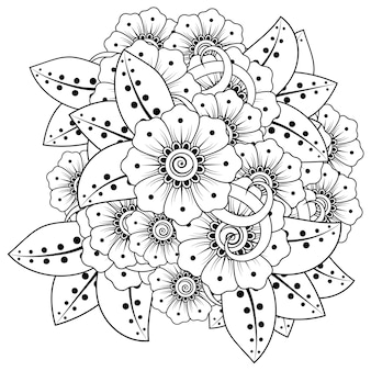 Mehndi-bloem in etnische oosterse stijl