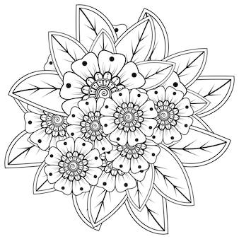 Mehndi bloem