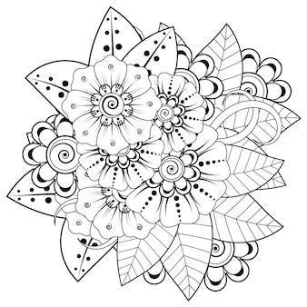 Mehndi-bloemdecoratie in etnisch oosters