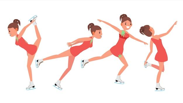 Meisje atleet kunstschaatsen