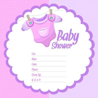 Meisje baby douche achtergrond