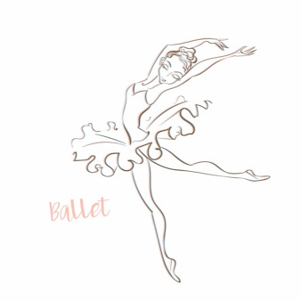 Meisje ballerina.
