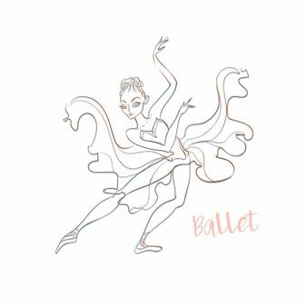 Meisje ballerina