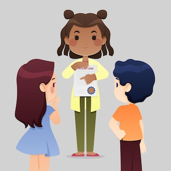 Meisje bedrijf octrooirecht cartoon
