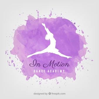 Meisje danseres springen logo vector