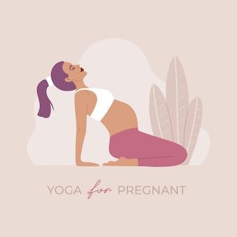 Meisje dat lichaamsbeweging en asana-positie uitvoert