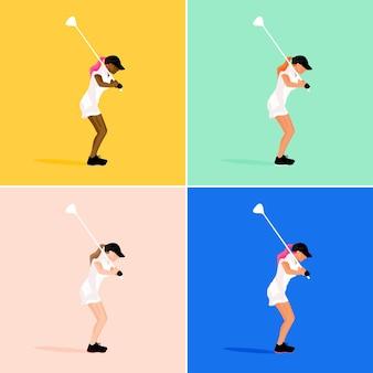 Meisje golfspel