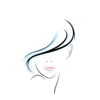 Meisje hoofd illustratie