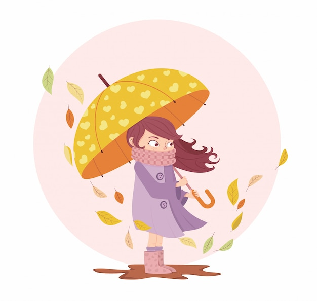 Meisje in de herfst