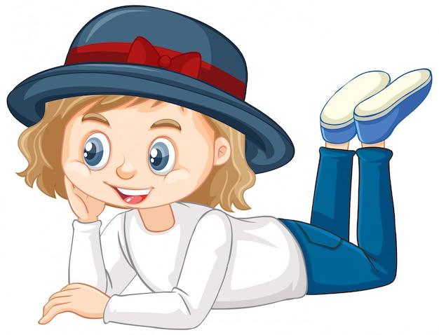 Meisje in spijkerbroek