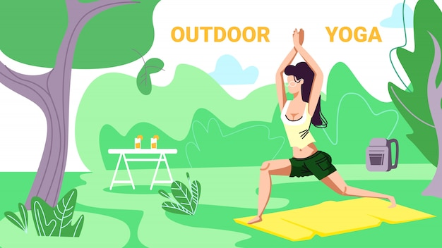 Meisje in sportkleding fitness of yoga gebruiken