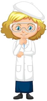 Meisje in wetenschapstoga status