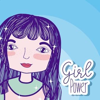 Meisje kracht cartoon