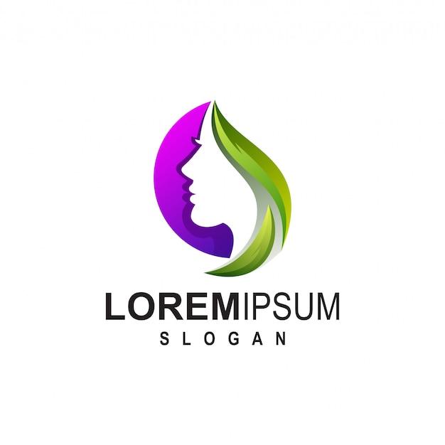 Meisje logo ontwerp voor schoonheidssalon