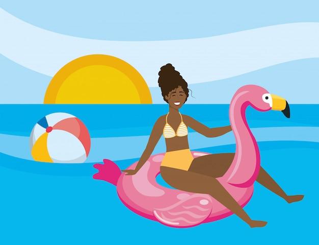 Meisje met de zomer swimwear