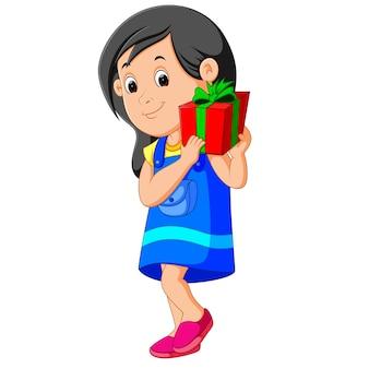 Meisje met een geschenkdoos