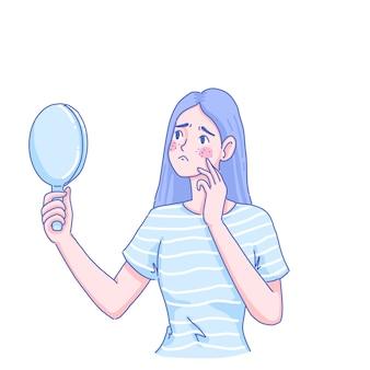 Meisje met huidproblemen