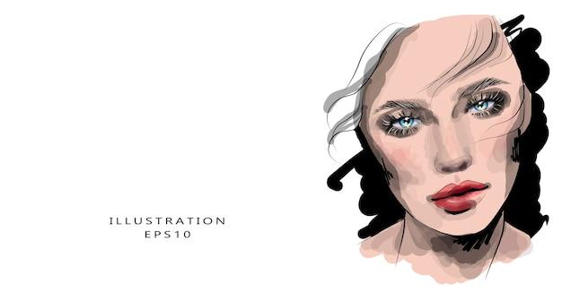 Meisje met make-up en mooie ogen