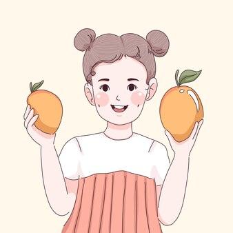 Meisje met mango il