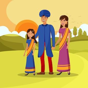 Meisje met ouders