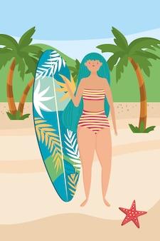 Meisje met zomer badmode