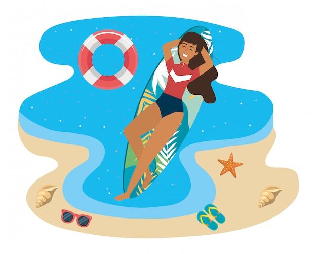 Meisje met zwemkleding