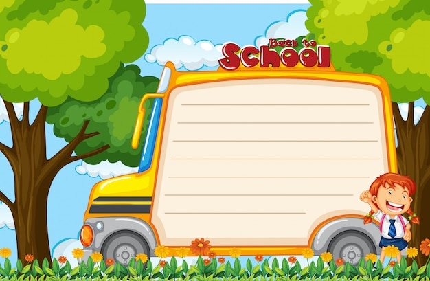 Meisje op schoolbusbiljet