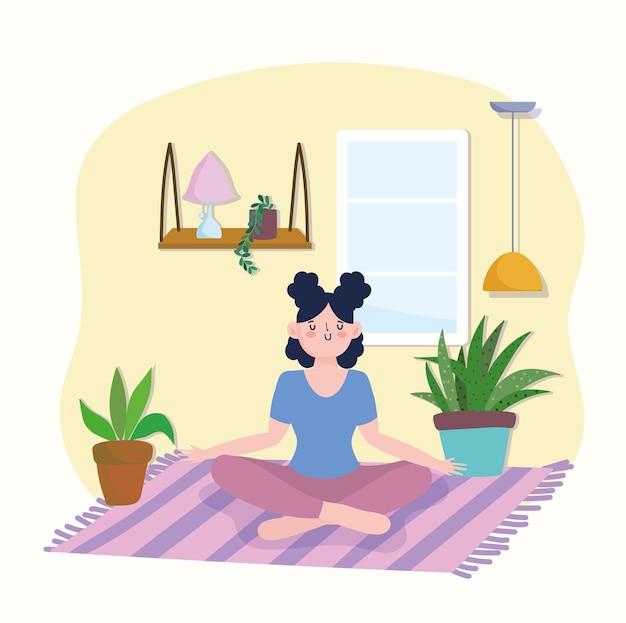 Meisje stelt meditatie