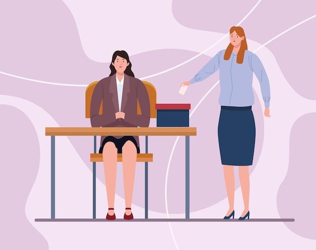 Meisje stemmen en rechter