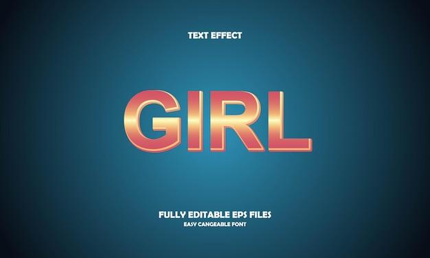 Meisje teksteffect