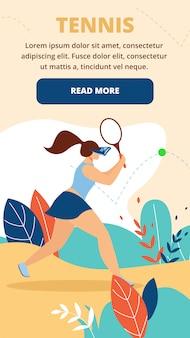 Meisje tennisspeler met vr-bril beat ball