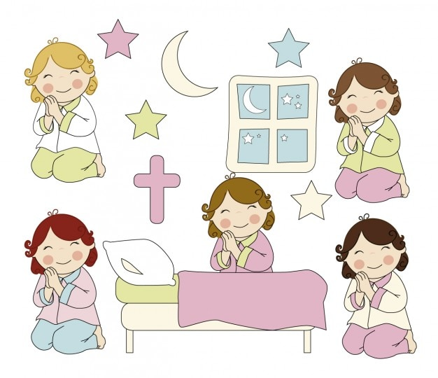 Meisjes bidden
