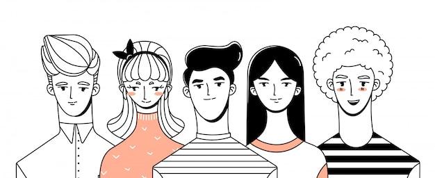 Meisjes en jongens karakters