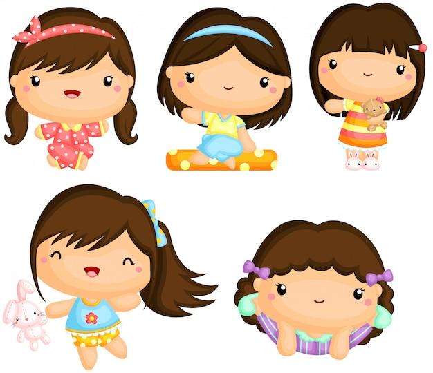 Meisjes in pyjama