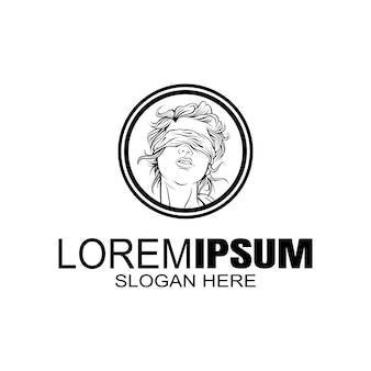 Meisjes logo creatief logo