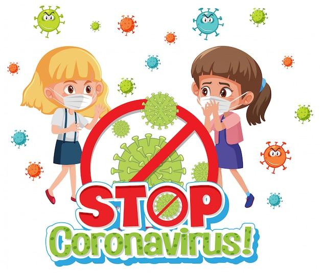 Meisjes stoppen met het verspreiden van virussen