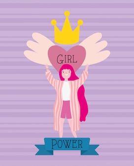 Meisjesbeeldverhaal van macht en sterk