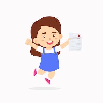 Meisjeskinderen vieren uitstekende cijfers