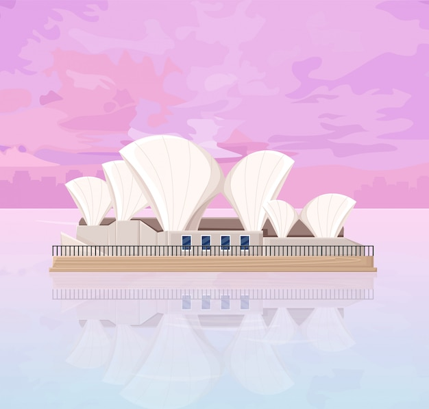 Melbourne opera house in australië