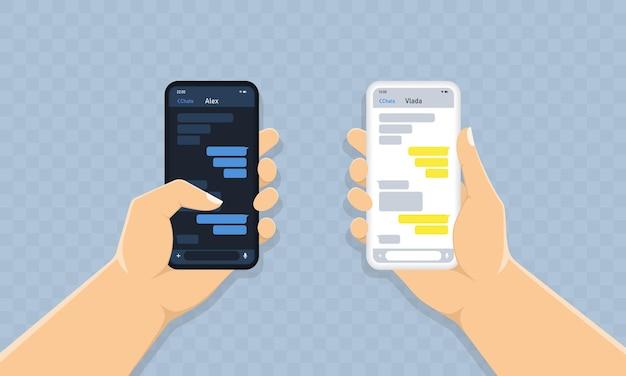 Melding van nieuwe chatberichten op mobiele telefoon