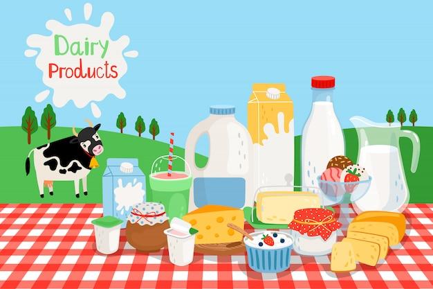 Melk boerderijproducten