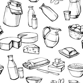 Melk en boerderijproduct.